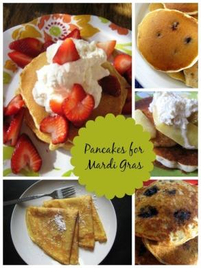 Mardi-Gras pancakes